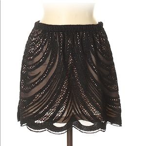 Zara black lace skirt